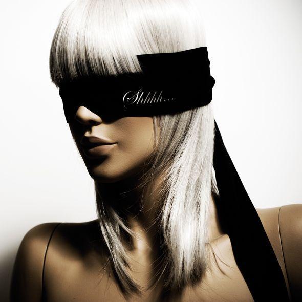 Повязка из сатина Bijoux Indiscrets - Shhh Blindfold
