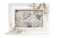 """Рамка для фото """"Птички"""" белая с золотом"""