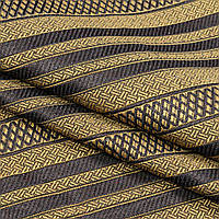 Ткань гобелен Полоса коричневый 150 см (661541)