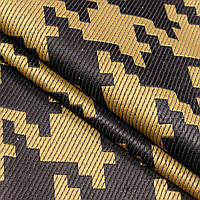 Ткань гобелен Графика коричневый 150 см (961541)