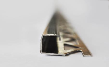 Асортимент профілів, поріжків, кутів для плитки з нержавіючої сталі