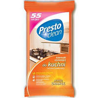 Влажные чистящие салфетки для кухни Presto Clean