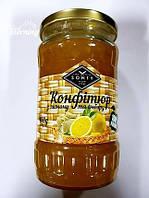 """Конфитюр Лимон-Имбирь перетёртый с сахаром в стекле ТМ """"SONTY"""" 400 гр"""