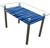 "Стеклянный стол ""Зебра"" ТМ Sentenzo, фото 1"
