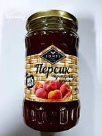 """Персик перетёртый с сахаром в стекле ТМ """"SONTY"""" 400 гр"""