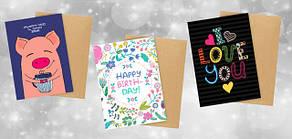 Подарочные открытки с конвертом