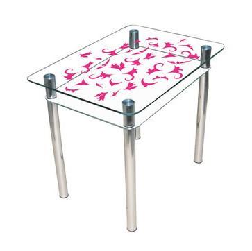 """Стеклянный стол """"Простор"""" ТМ Sentenzo"""