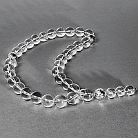 Гірський кришталь, Ø12 мм, срібло 925, чотки, 194ЧТГ