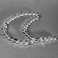 Горный хрусталь, Ø12 мм., серебро 925, четки, 194ЧТГ