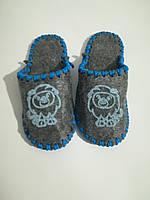 Тапочки детские плотный фетр, размер 30\31