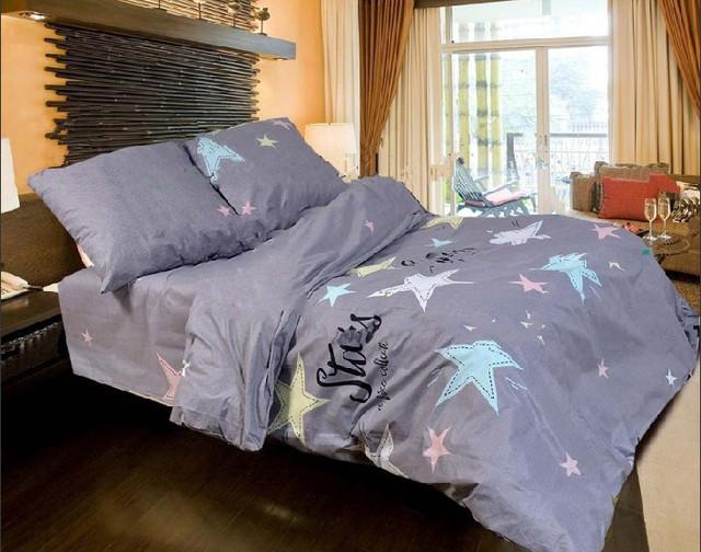 фотография постельное белье с звездами двуспальный размер