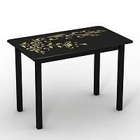 """Скляний стіл """"Монарх Чорний зефір"""" ТМ Sentenzo, фото 1"""