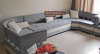 Гостевой диван буквой П + кресло велюр