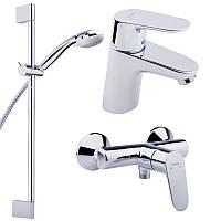 Душевой набор смесителей 3 в 1 (умывальник, ванна, стойка) Hansgrohe Focus E2 31933000
