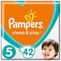 Подгузники (підгузники) Pampers Sleep & Play Размер 5 (Junior) 11-16 кг, 42 подгузника