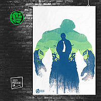 Постер Hulk, Халк, Мстители, Марвел. Размер 60x42см (A2). Глянцевая бумага