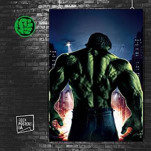 Постер Hulk, Халк, Мстители, Марвел. Размер 60x43см (A2). Глянцевая бумага