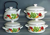 Эмалированный набор кастрюль Поварской(Кулинарный)