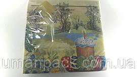 Салфетки бумажные праздничные (ЗЗхЗЗ, 20шт) Luxy Пасхальное гуляние 994 (1 пач)