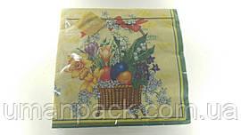 Салфетки бумажные пасхальные (ЗЗхЗЗ, 20шт) Luxy Пасхальноя весна 045 (1 пач)