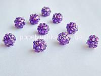Намистини шамбала Фіолетові 10 мм