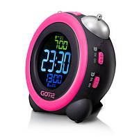 Электронный будильник Gotie GBE-300Z розовый