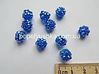 Намистини шамбала Сині 10 мм