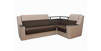Угловой диван Garnitur.plus Винстон правосторонний коричнево-бежевый 270 см (DP-351)