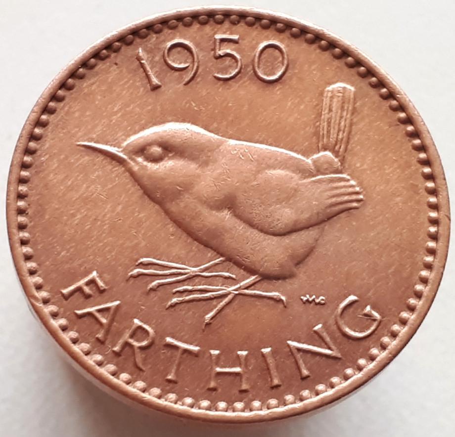 Великобритания 1 фартинг 1950