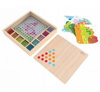 """Мозаика-Конструктор """"Цветные колышки"""" в деревянной коробке 8010"""