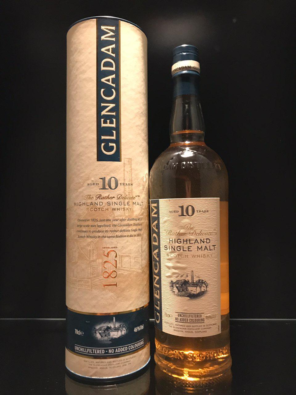 Виски Glencadam 10 Years Old Гленкадам 0.7л
