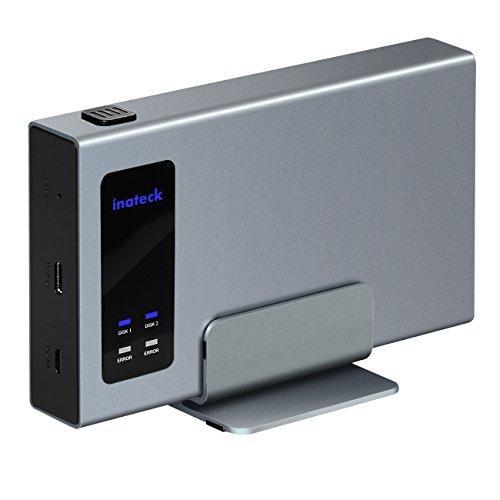 "Карман для двух HDD 2.5"" Inateck FE2101 USB3.1 алюминиевый серый"