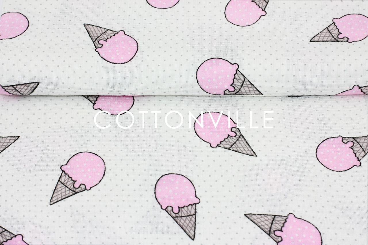 Муслин Розовое мороженое 155  см