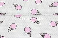 Муслин Розовое мороженое 155  см, фото 1