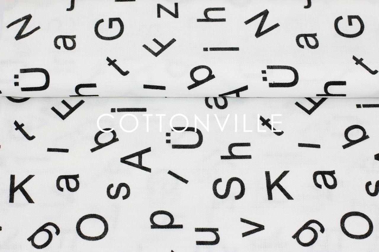 Муслин Буквы 155 см