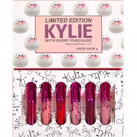 Помада KYLIE Limited Edition матовая 6 шт 6928 яркая , фото 2