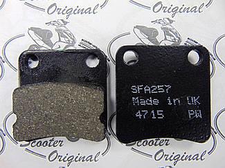 EBC Серія Organic (SFA257) Гальмівні колодки Honda Super Dio ZX, CBX, Yupy, TUR/ML, GP, HSC SR, ZR, Sym DD