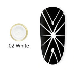Гель павутинка Canni (біла) №2, 8 мл