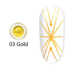 Гель павутинка Canni (золота) №3, 8 мл