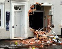 В Польше дерзко украли банкомат.