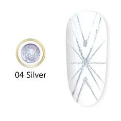 Гель павутинка Canni(срібна) №4, 8 мл