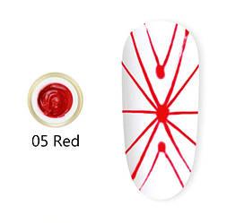 Гель павутинка Venalisa (червона) №5, 8 мл