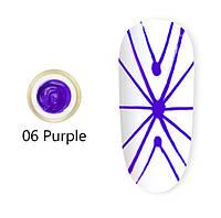 Гель паутинка Venalisa (фиолетовая) №6, 8 мл