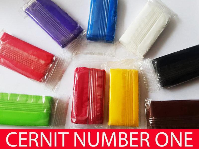 Полимерная глина Цернит Cernit (Бельгия) 30г брусок, Шоколад №800