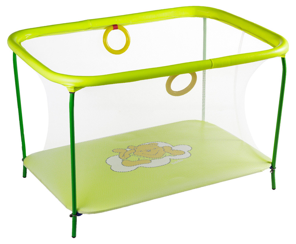 Манеж Qvatro LUX-02 мелкая сетка  желтый (winnie pooh)