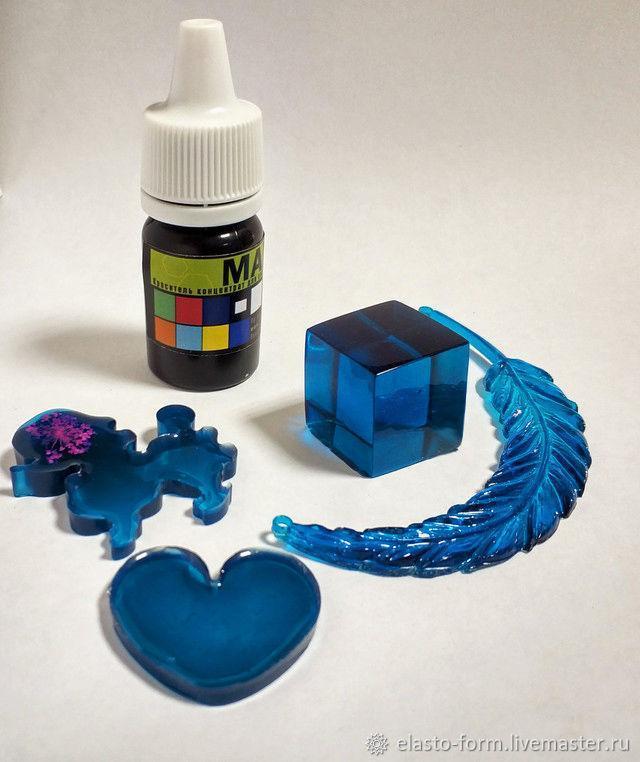 Краситель синий индиго Марбо Marbo (Италия) для смол и полиуретанов, 50 г