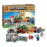 КонструкторLele Minecraft 10177 Верстак 517 деталей