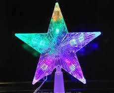 """Верхушка на ёлку  """"Звезда"""" 1,3 метра длина шнура"""