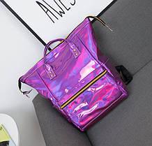 Голографический рюкзак-сумка трансформер, фото 3