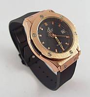 Часы женские наручные Hublot Geneve 882888 черные с бронзой